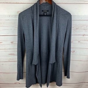 WHBM | Gray Open Front Long Cardigan